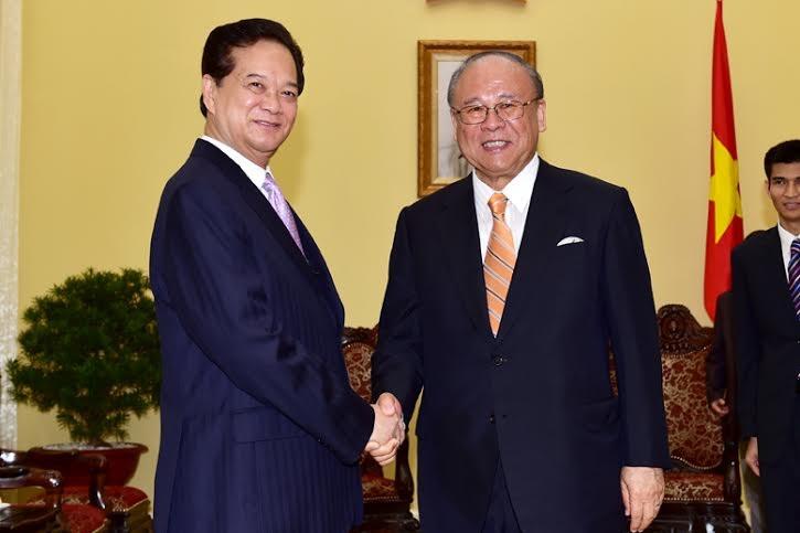 Thủ tướng Nguyễn Tấn Dũng tiếp ông Tsutomu Takebe, Cố vấn đặc biệt Liên minh nghị sĩ hữu nghị Nhật - Việt