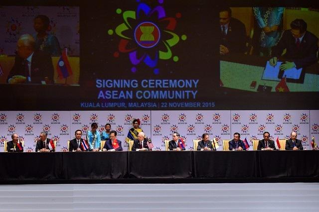 Lễ ký thành lập cộng đồng ASEAN diễn ra tại Malaysia (Ảnh: VGP)
