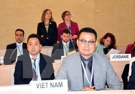 Đại sứ đặc mệnh toàn quyền Nguyễn Trung Thành, Đại diện Thường trực của Việt Nam bên cạnh LHQ (Ảnh: Tố Uyên/TTXVN)