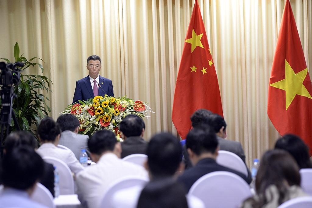 Trong sáng cùng ngày, cũng tại Trung tâm Hội nghị quốc tế đã diễn ra hội nghị giới thiệu chính sách đầu tư và các quy trình, thủ tục về giải ngân đối với các khoản viện trợ, khoản vay tín dụng của Trung Quốc do các bộ, ngành Trung Quốc chủ trì.