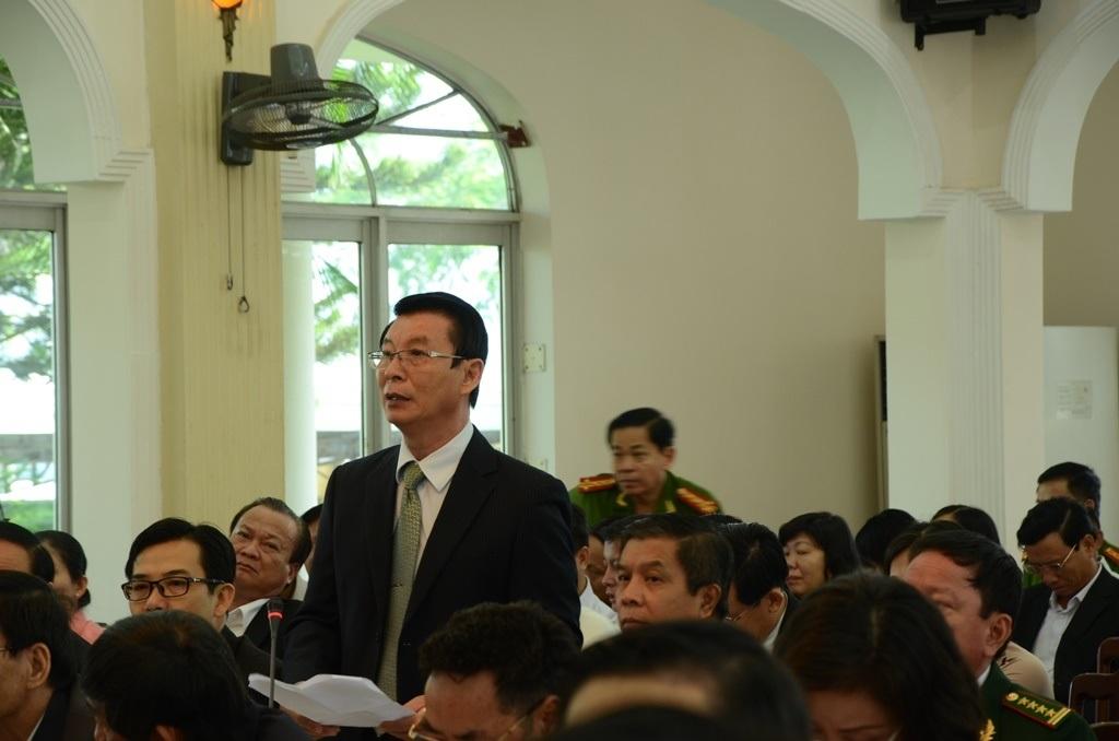 Đại biểu Trần Văn Lĩnh đề nghị đặt tên đường hoặc cầu Nguyễn Bá Thanh
