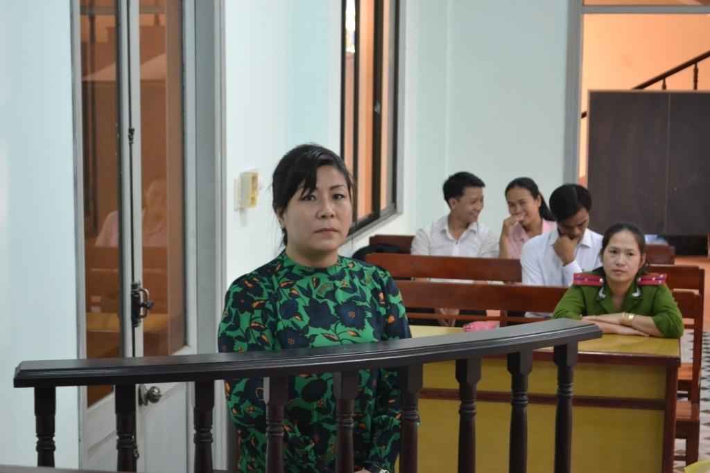 Bị cáo Mai tại phiên tòa