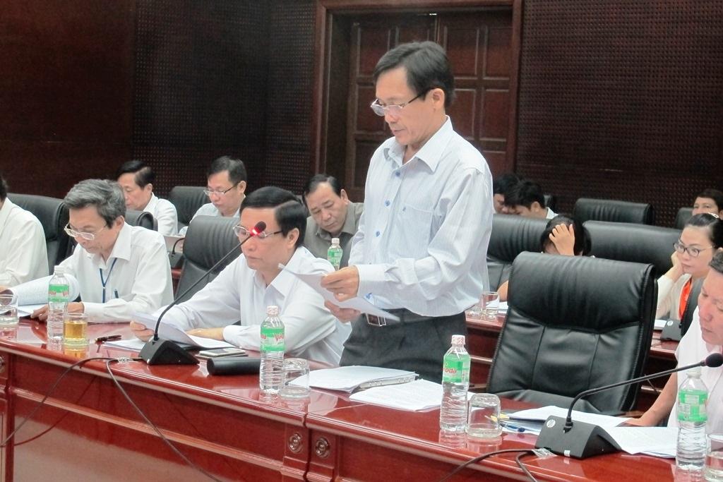 Ông Trần Văn Sơn, Giám đốc Sở Kế hoạch – Đầu tư Đà Nẵng kiến nghị tại buổi làm việc với Đoàn công tác liên ngành do Bộ Kế hoạch - Đầu tư chủ trì