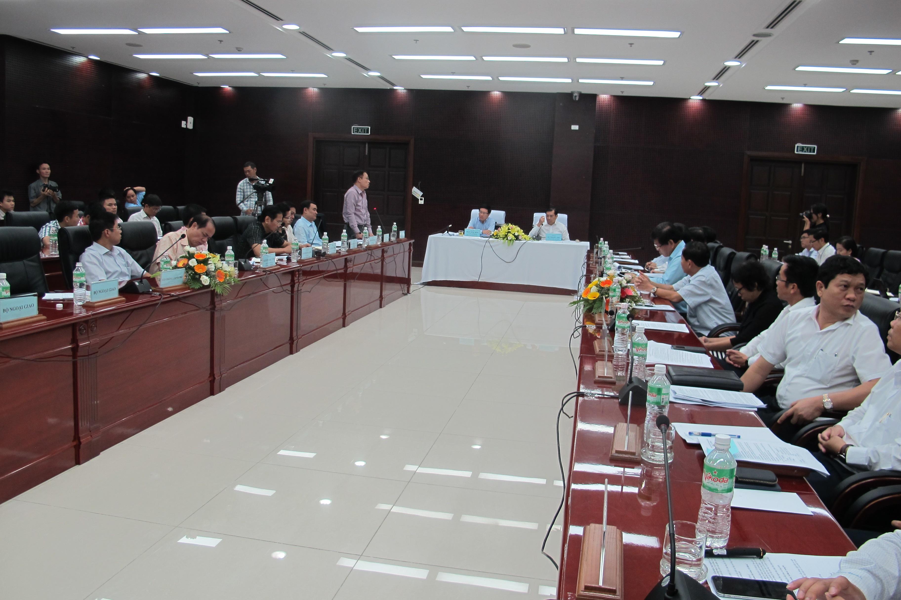 Phó Thủ tướng Phạm Bình Minh làm việc với lãnh đạo TP Đà Nẵng