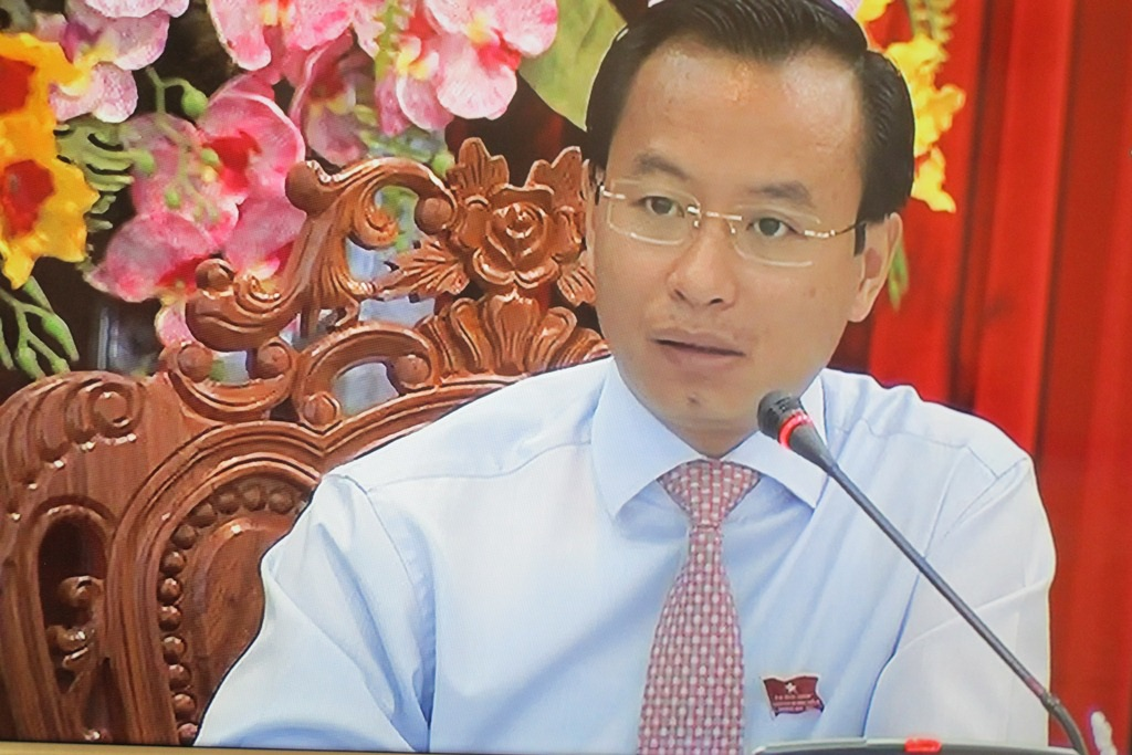 Ông Nguyễn Xuân Anh, Bí thư Thành ủy – Chủ tịch Hội đồng nhân dân TP Đà Nẵng phát biểu tại phiên thảo luận