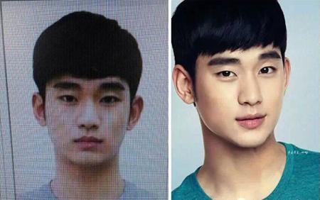 """""""Cụ giáo"""" Kim Soo Hyun trông không khác biệt nhiều khi so sánh hai hình ảnh quá khứ và hiện tại."""