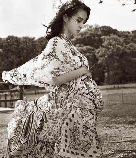 Hình ảnh bầu bí được Han Hye Jin chia sẻ vài tháng trước
