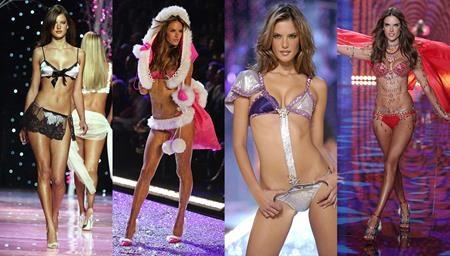 """Alessandra là một """"thiên thần"""" nổi tiếng quyến rũ của hãng Victoria's Secret. Siêu mẫu sinh năm 1981 có tới 11 năm """"đeo cánh thiên thần"""". Năm 2004, Alessandra còn từng được chọn làm gương mặt cho dòng """"Pink"""" của hãng. Với kinh nghiệm dày dặn, siêu mẫu người Brazil thường xuyên diện các trang phục giá trị tại chương trình Victoria's Secret Fashion Show."""