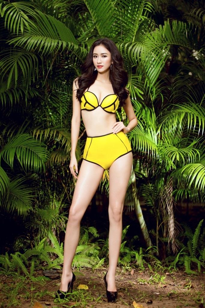 """Á hậu Hà Thu """"bốc lửa"""" trong trang phục bikini - 4"""