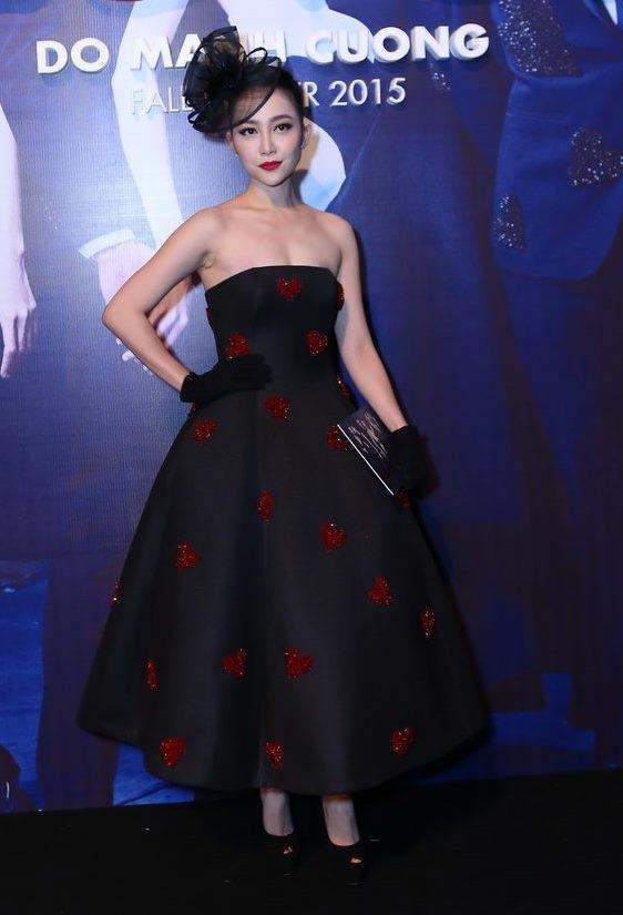 Người đẹp Linh Nga chọn phong cách quý bà sang trọng khi xuất hiện
