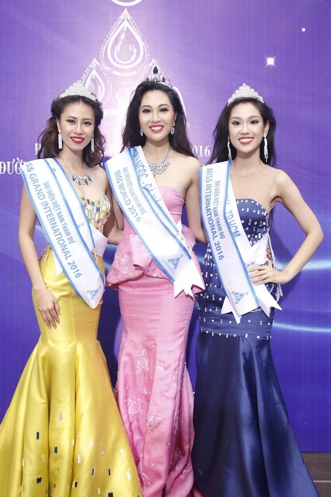 3 cô gái đoạt ngôi vị cao nhất trong đêm chung kết Hoa khôi áo dài mùa 2