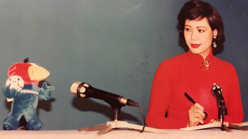 PTV Thúy Hoa trong một chương trình của đài