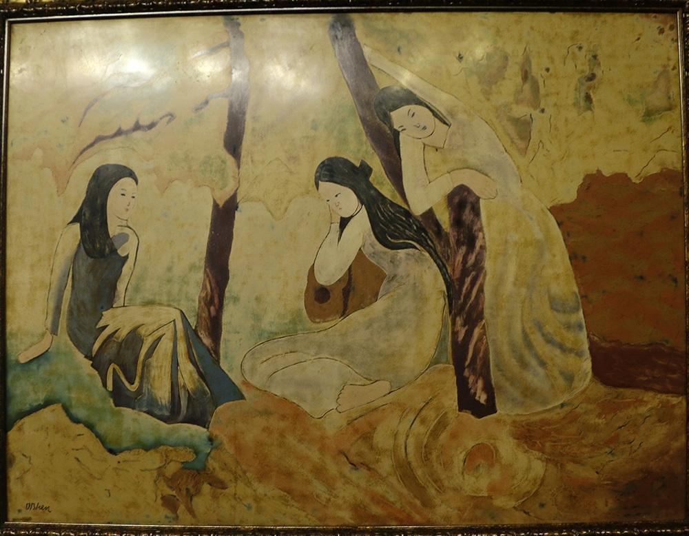 Tác phẩm 3 cô gái - họa sĩ Dương Bích Liên