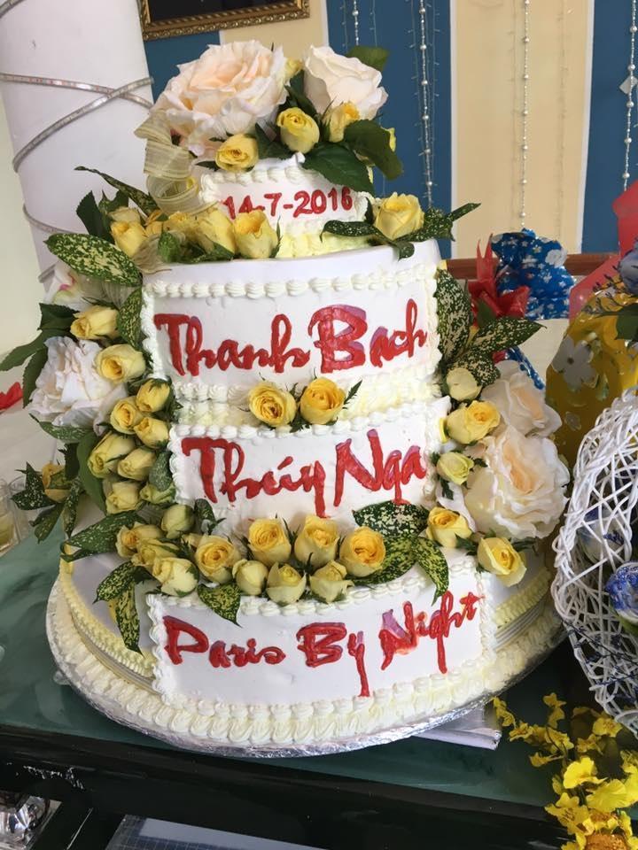 Bánh cưới khá hoành tráng của MC Thanh Bạch và bà Thúy Nga
