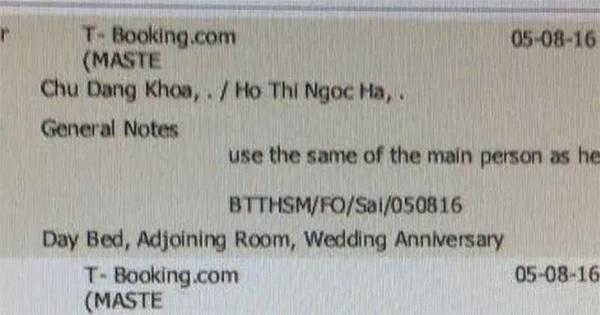 Thông tin nơi Hà Hồ và Chu Đăng Khoa đặt phòng cũng bị tung ra là vào ngày 5/8