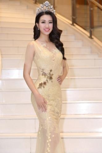 Hoa hậu Đỗ Mỹ Linh khoe nhan sắc ngọt ngào hậu đăng quang - 8