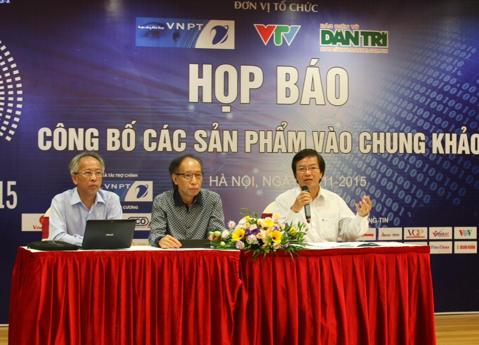 Ban tổ chức Giải thưởng Nhân tài Đất Việt họp báo công bố các sản phẩm vào chung khảo