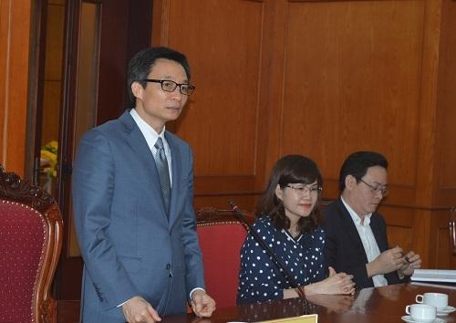 Phó Thủ tướng Vũ Đức Đam đánh giá cao những nỗ lực của Bộ trưởng Nguyễn Quân trong suốt thời gian qua