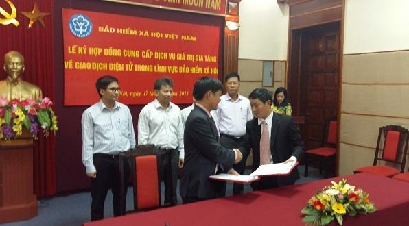 Lễ ký hợp đồng chính thức giữa BHXH Việt Nam và công ty Thái Sơn