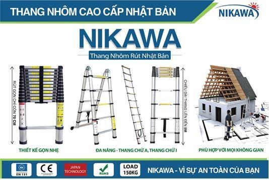 Thang nhôm rút Nikawa cực kỳ tiện ích