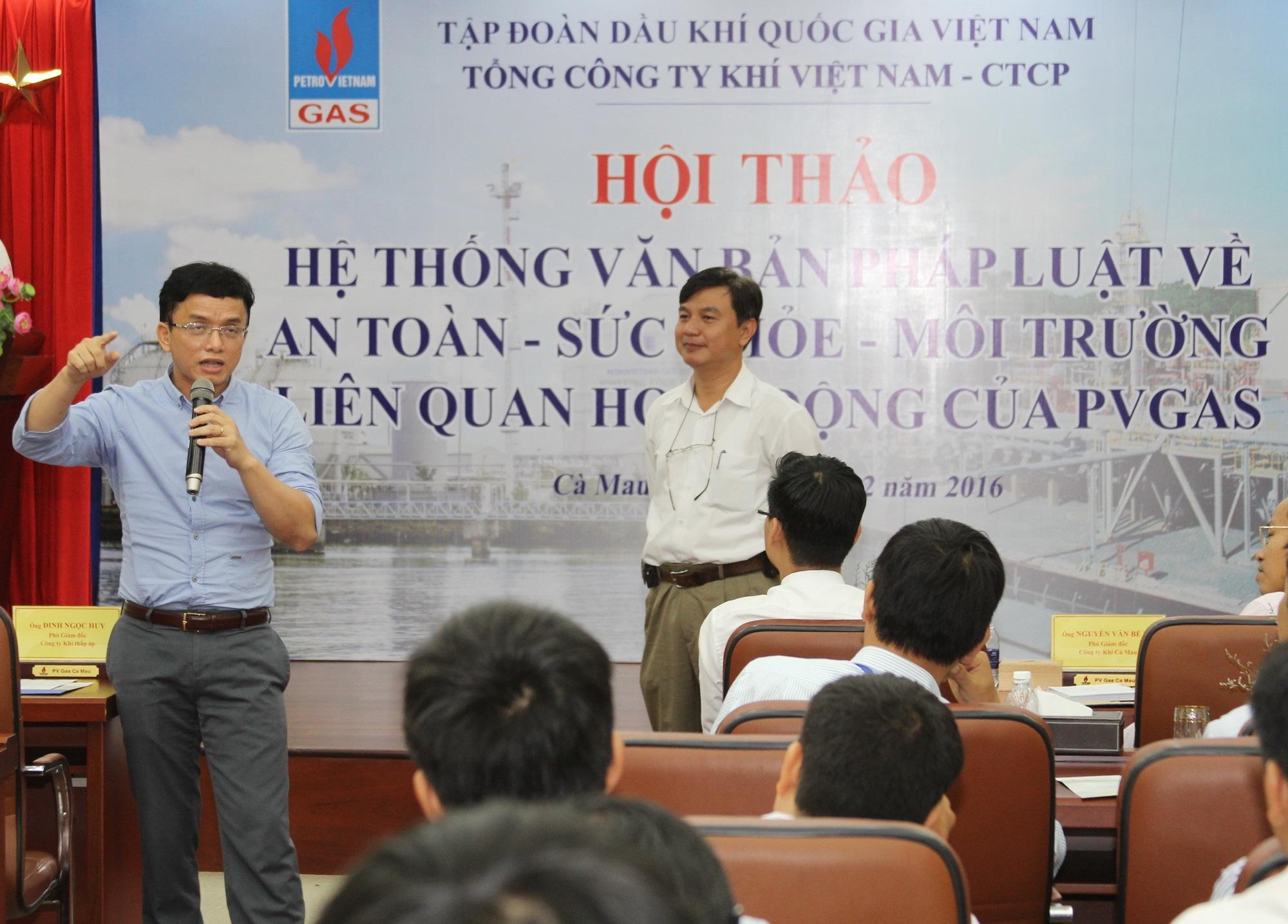 """Tổng Công ty Khí Việt Nam tổ chức """"Hội thảo về văn bản pháp luật liên quan đến lĩnh vực AT-SK-MT-PCCC"""" - 1"""