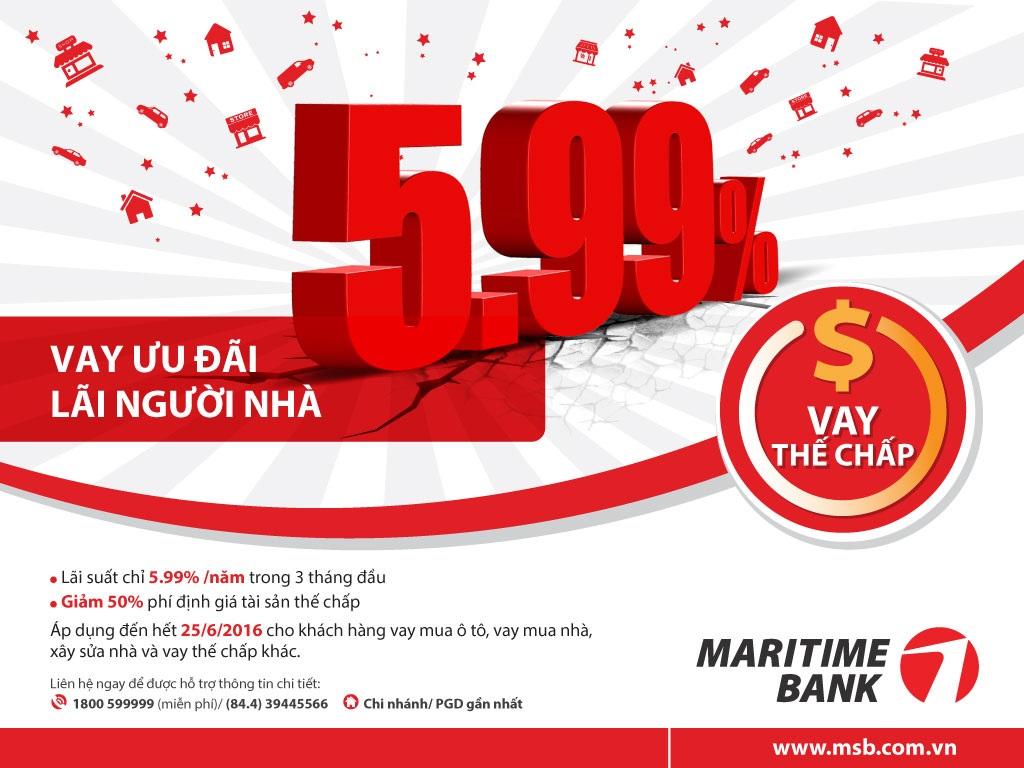 Vay với lãi suất ưu đãi chỉ từ 5,99% tại Maritime Bank - 1