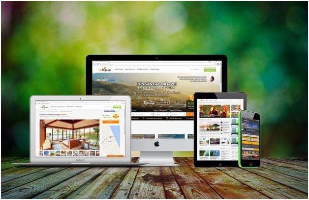 Trang web và ứng dụng di động cung cấp dịch vụ đặt khách sạn trực tuyến của công ty
