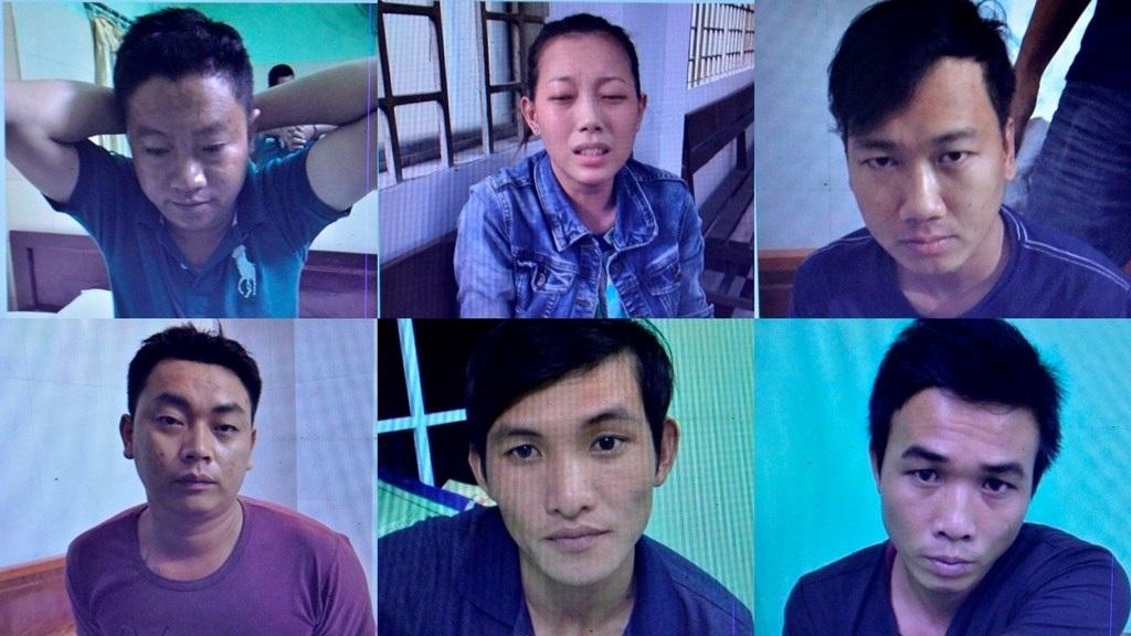 Sáu nghi phạm bị bắt giữ