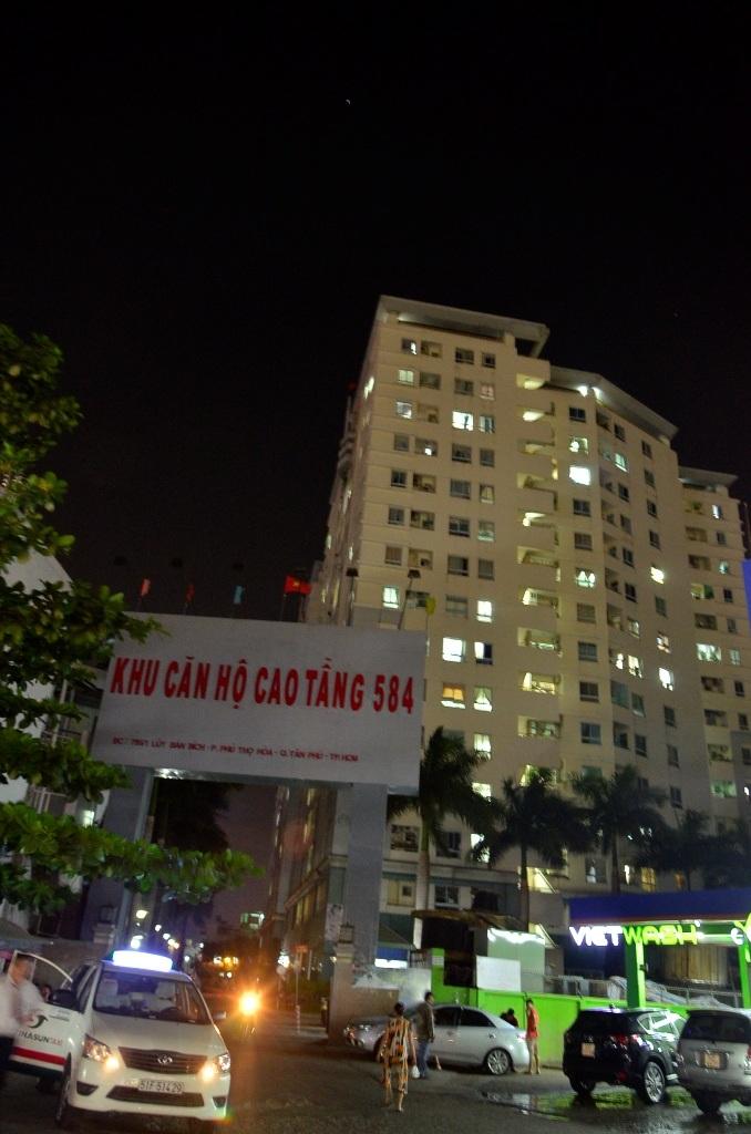 Khu căn hộ chung cư Sacomreal - 584 nơi xảy ra vụ việc