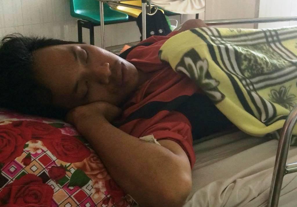 Anh Phạm Thiện Minh Phong vẫn đang nằm điều trị tại Bệnh viện 115