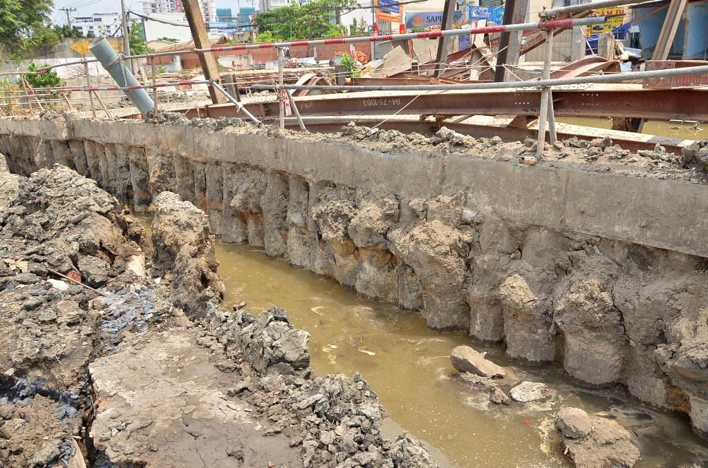 Công trình nơi xảy ra sự cố sụt lún