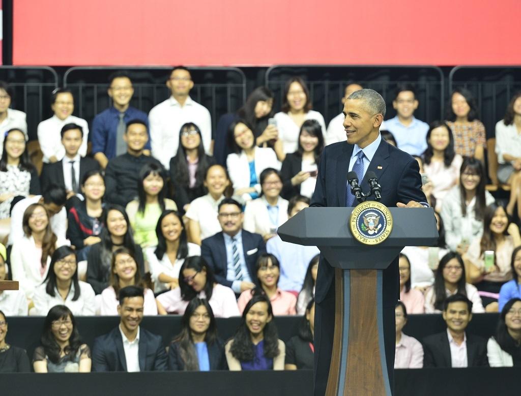Tổng thống Mỹ giao lưu với các thủ lĩnh trẻ Việt Nam