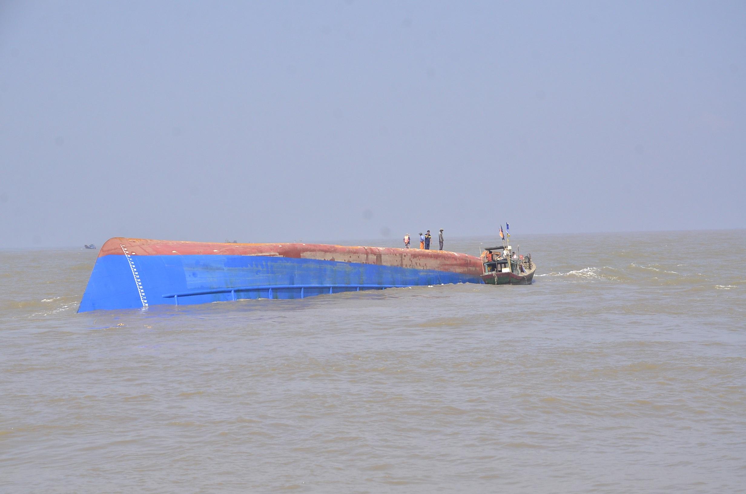 Một tàu chìm trên biển Cần Giờ (ảnh minh họa)