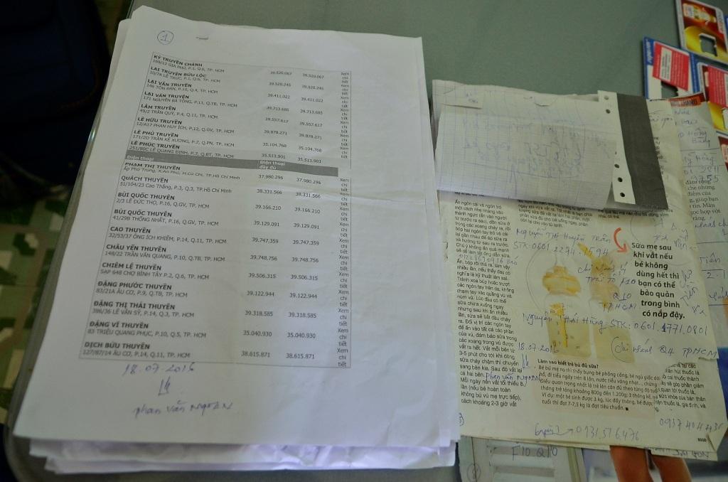 Danh sách số điện thoại mà đối tượng Ngoan sử dụng để lừa đảo
