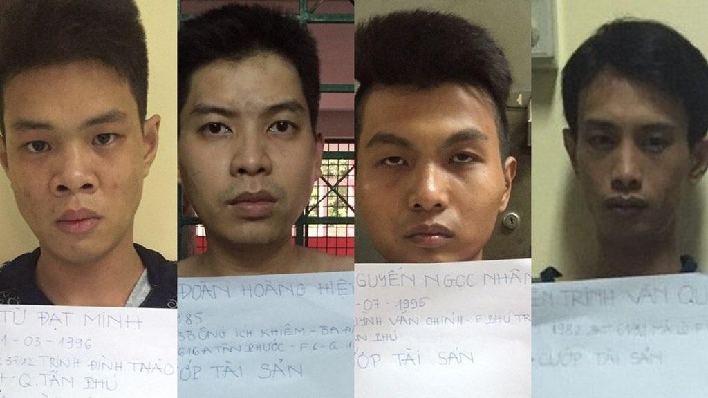 4 đối tượng trong băng cướp