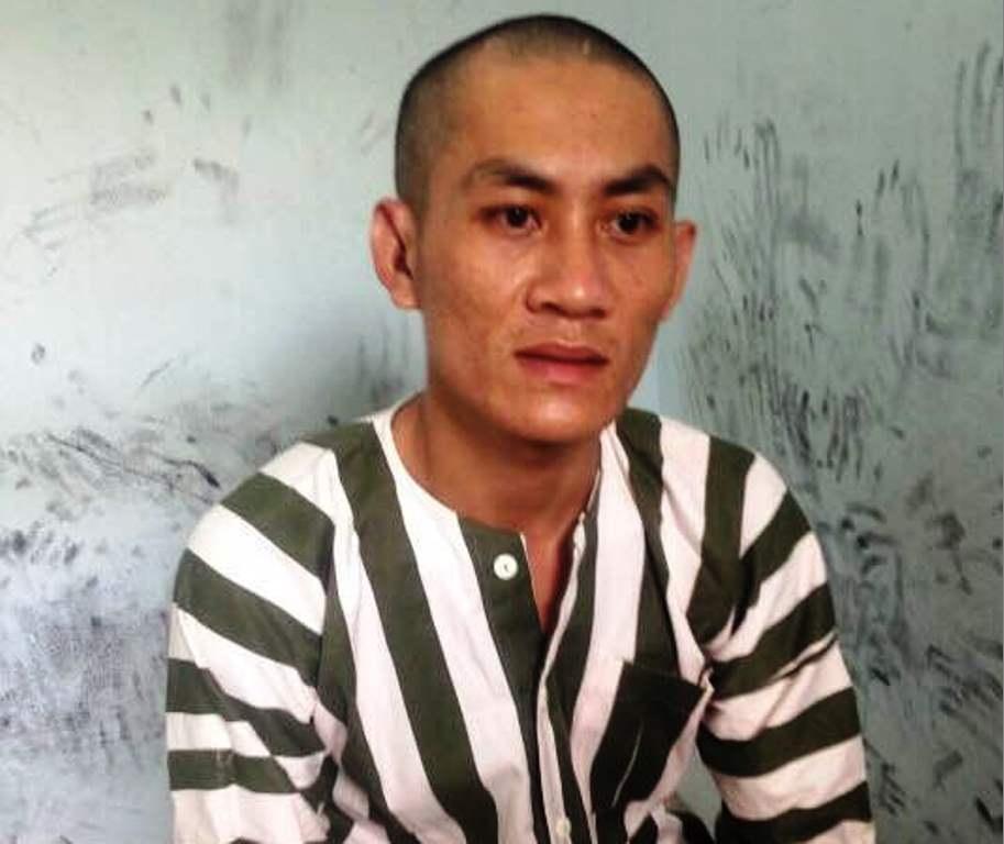 Trương Thanh Việt tại cơ quan công an