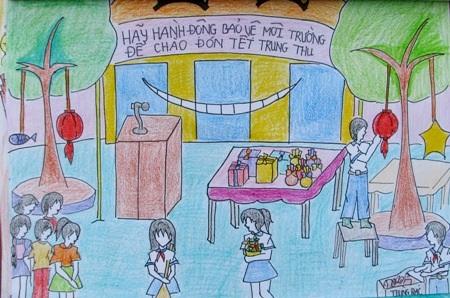 Học sinh sôi nổi thi vẽ tranh đón Tết Trung thu - 8