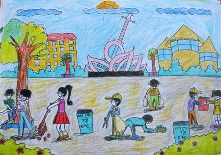 Học sinh sôi nổi thi vẽ tranh đón Tết Trung thu - 14