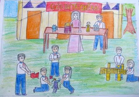 Học sinh sôi nổi thi vẽ tranh đón Tết Trung thu - 15