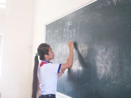 Ngân xứng đáng là thủ lĩnh trong phong trào học tập của THCS Lý Tự Trọng.
