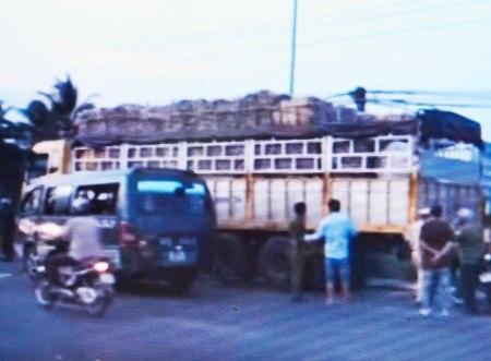 Hiện trường vụ tai nạn (ảnh chụp lại).