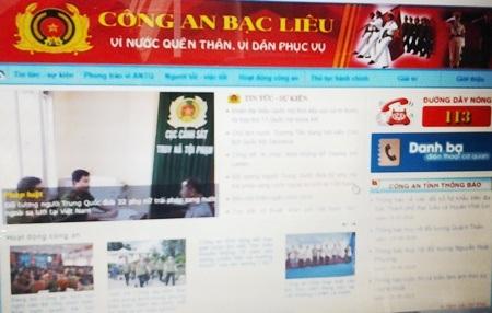 Công an tỉnh Bạc Liêu mở hộp thư tố giác tội phạm qua trang thông tin điện tử.