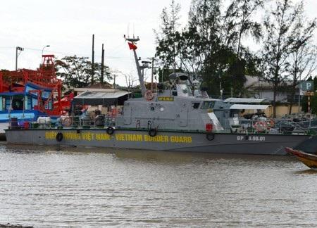 Tàu tuần tra, cứu hộ cứu nạn mới tại Biên phòng Sóc Trăng.