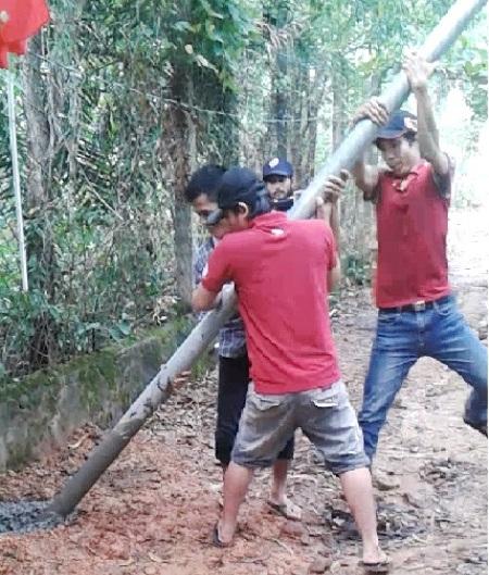 Một số lần phía Công ty Hải Lưu bị tố cho người nhổ cột điện, phá hoại tài sản của người dân.