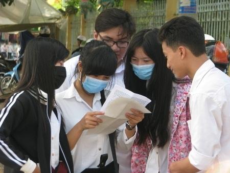Thí sinh dự thi THPT quốc gia 2016 tại cụm thi Bạc Liêu.