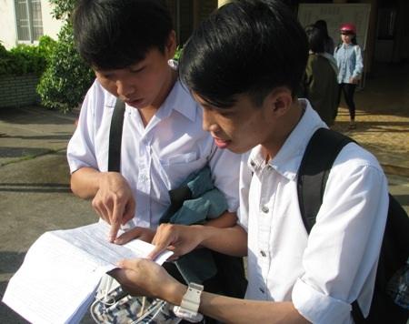 Thí sinh cụm Bạc Liêu dự kỳ thi THPT quốc gia 2016.