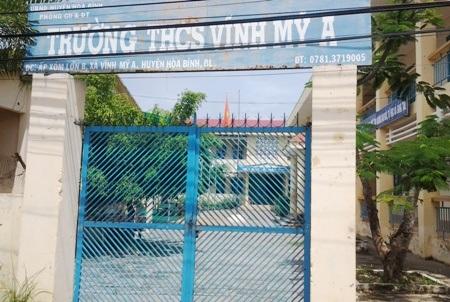 Trường THCS Vĩnh Mỹ A (huyện Hòa Bình, tỉnh Bạc Liêu), nơi Phó hiệu trưởng bị tố nhiều sai phạm nhưng vẫn được giao quyền điều hành trường.