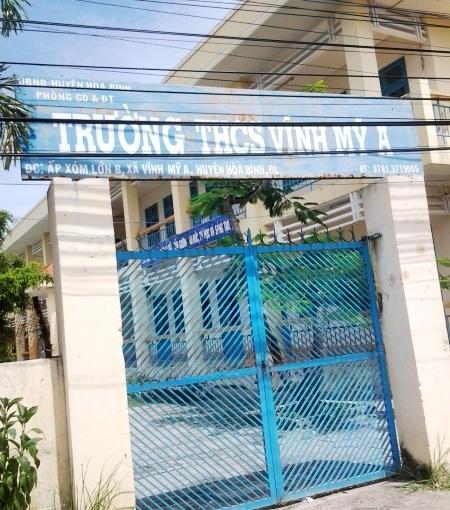 Trường THCS Vĩnh Mỹ A, nơi ông Phan Thanh Tài- Phó hiệu trưởng bị tố có nhiều sai phạm.