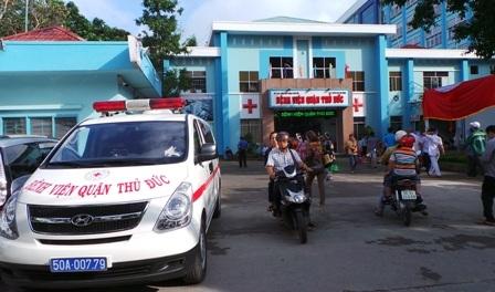Trạm cấp cứu Quận Thủ Đức có 4 xe cứu thương và nhân sự đặt tại các vị trí khác nhau trên địa bàn