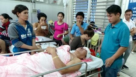 Nạn nhân trong quá trình điều trị tại bệnh viện Chợ Rẫy